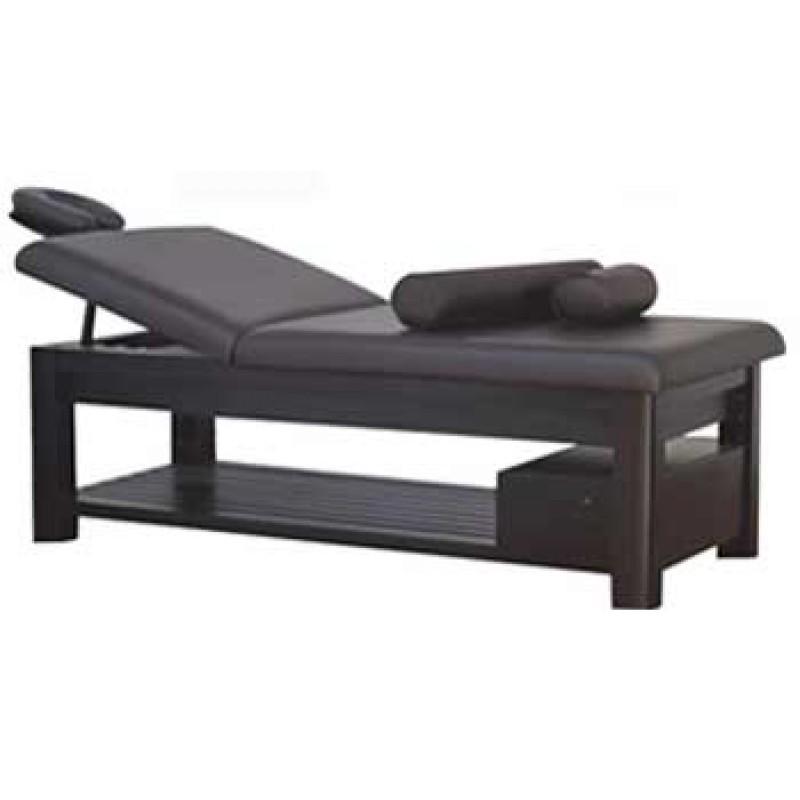 Tattoo Bed Elegance Dark Wood With Bottom Shelf 2 Bolsters