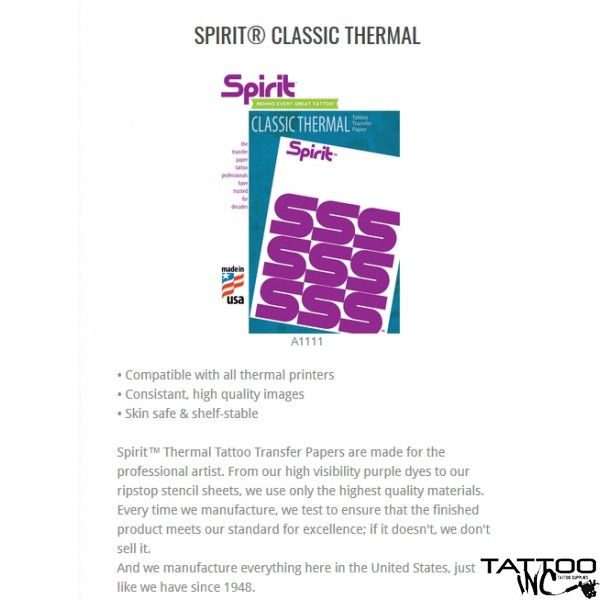 Spirit® Classic Thermal  ( singles sheets up to 30 pieces)