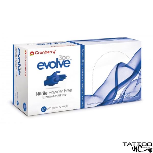 Gloves Cranberry Evolve Powder Free Nitrile Gloves (300 per Box)