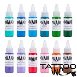Dynamic Blends Pack Tattoo Ink 1oz Bottles - 12 Colors