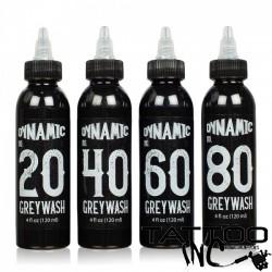 Dynamic Greywash Tattoo Ink Set — 4 4oz Bottles