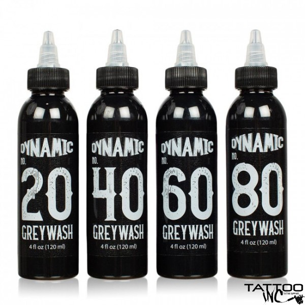 Dynamic Greywash Tattoo Ink Set — 4 4oz Bottles