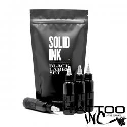 Solid Ink — Black Label 4 Bottle Grey Wash Set 1oz Bottles