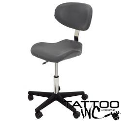 Stool - Curve Back & Seat (Grey)
